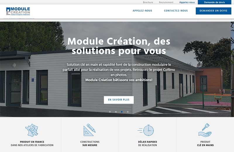 Leader construction modulaire